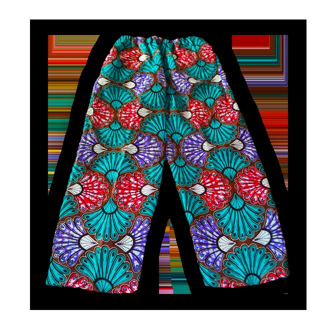 アフリカ柄女性用ズボン(S/M)