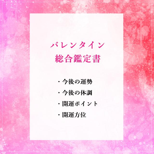 【鑑定書】バレンタイン総合鑑定書