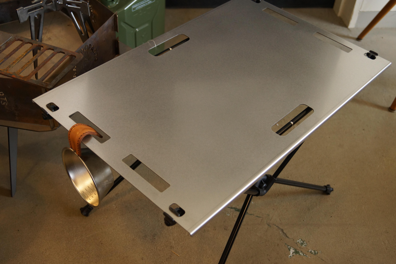 Helinox Home(ヘリノックス)テーブルM.S.ワン用ステンレス天板。