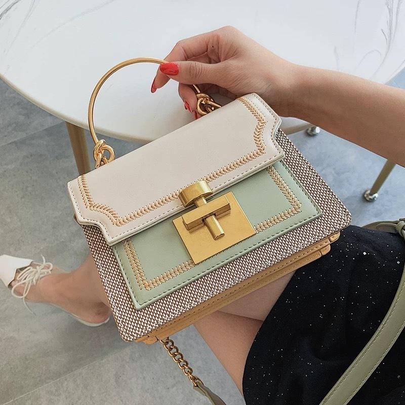 pastel color box bag