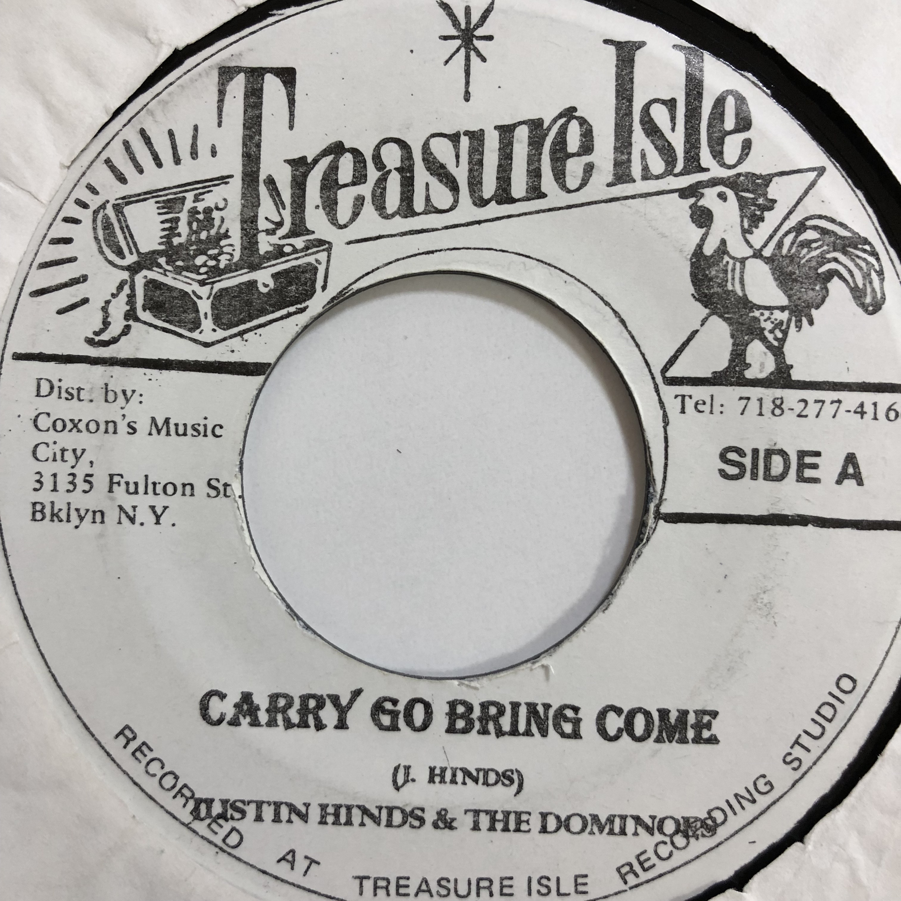 Justin Hinds(ジャスティンハインズ) - Carry Go Bring Come【7-10734】