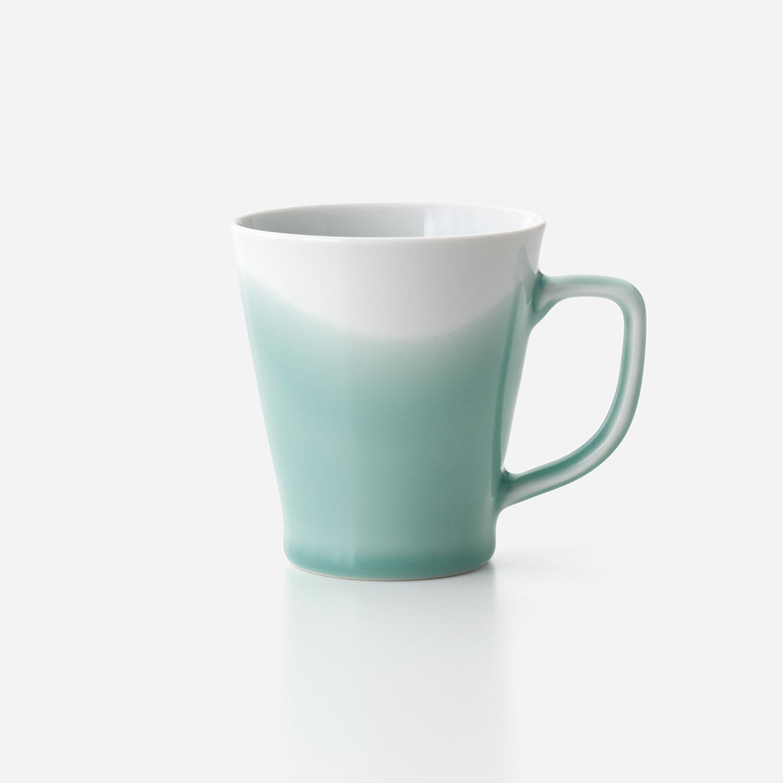 青磁波 筒型マグカップ