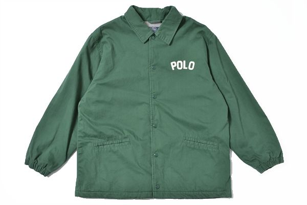 polo by Ralph Lauren sizeM button/cotton jacket green