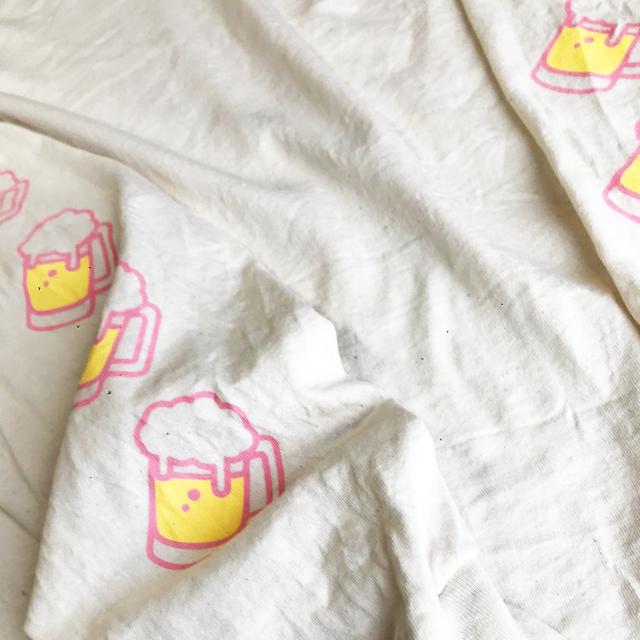 ビール ロングスリーブTシャツ(ナチュラル) - 画像4
