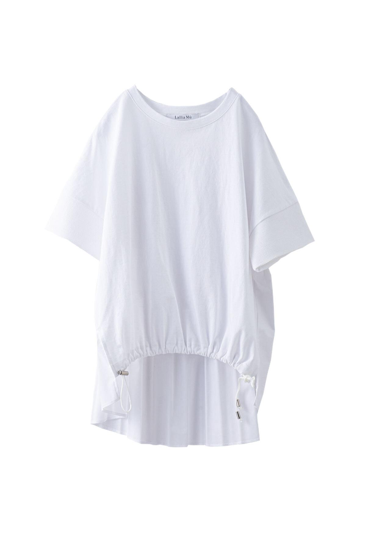 バックプリーツTシャツ <オフ> #2