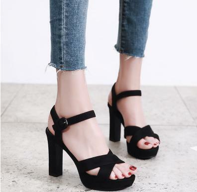 サンダル ハイヒール ヒール12cm 靴 小さいサイズ 大きいサイズ レディース ブラック 着心地よい さんだる 春夏 ブラック 大人 女性