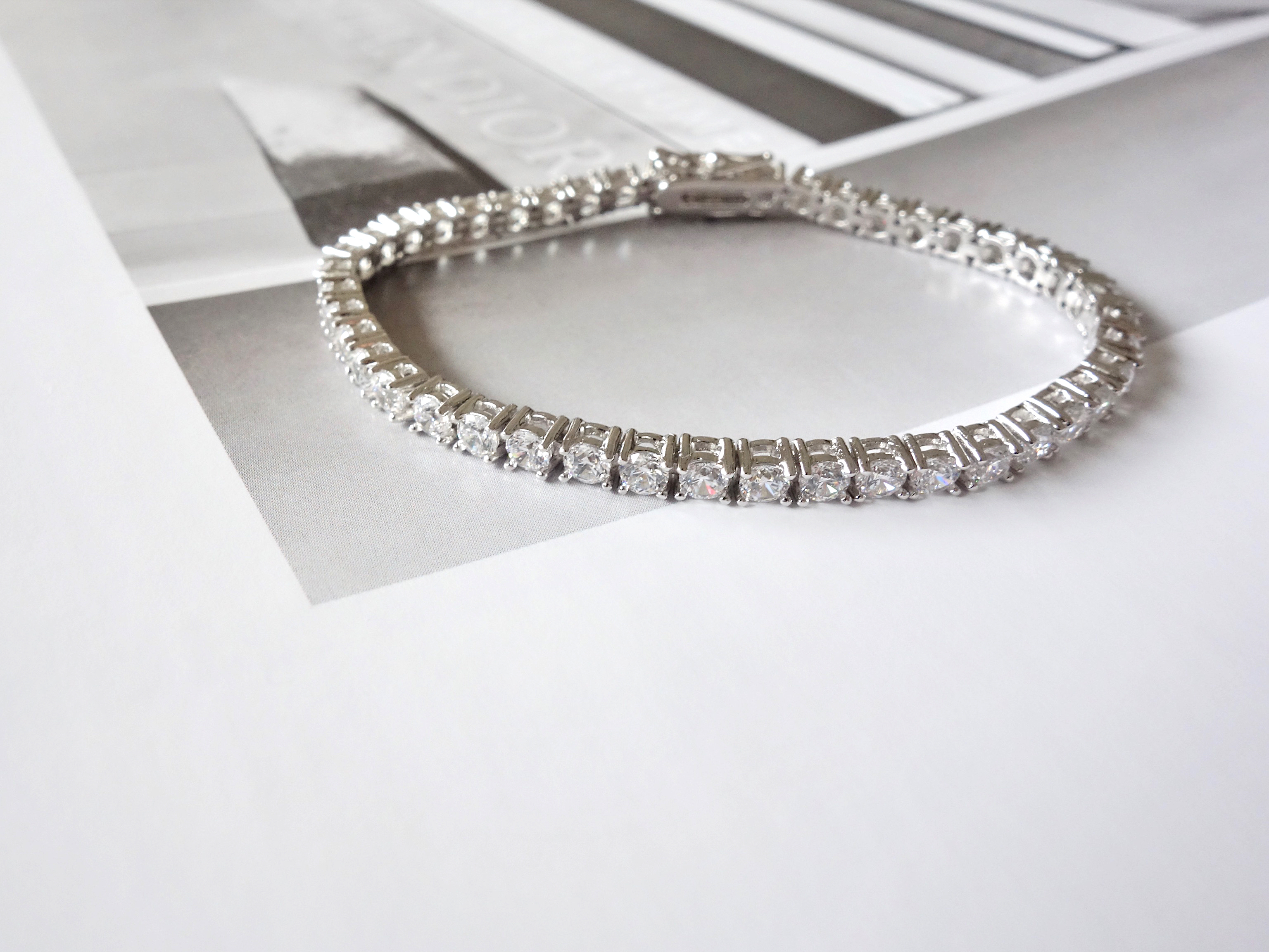 artificial diamond bracelet