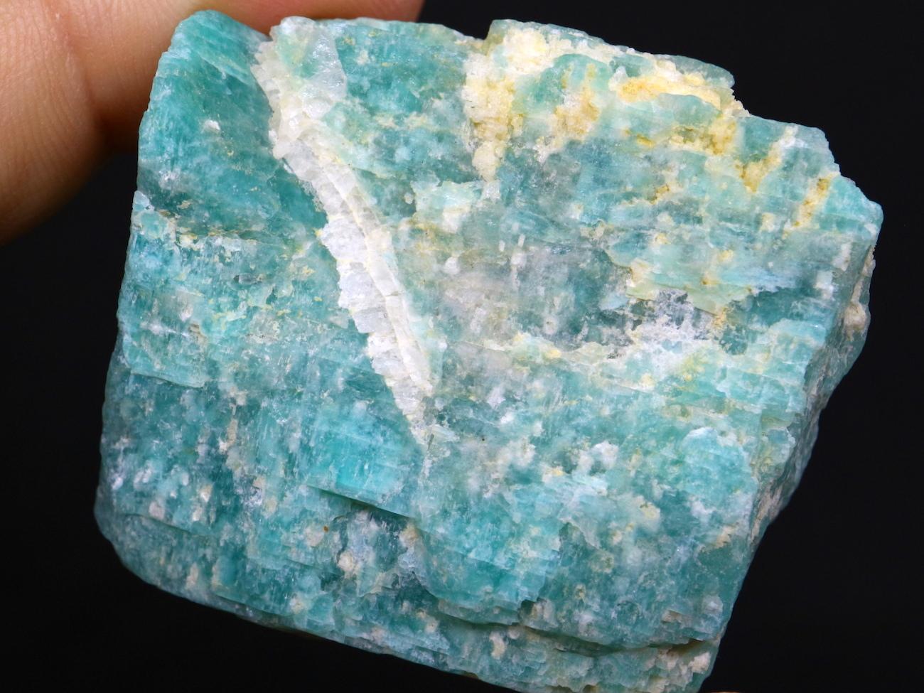 アマゾナイト モザンビーク産 原石 39,5g AZ0021 天河石(てんがせき)