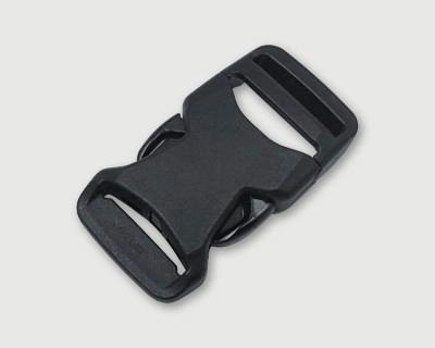 nifco プラスチックバックル 軽量薄型 片引きタイプ JSRB25A  黒 100個