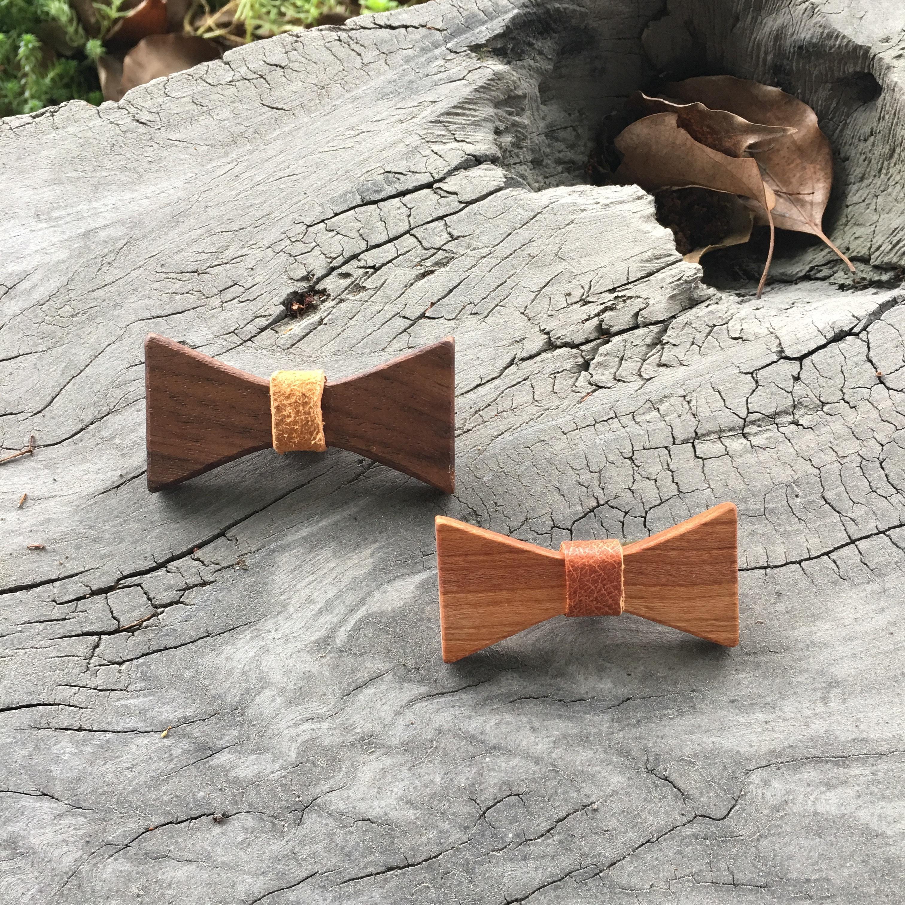 wood bow tie 木のリボンタイ(M)