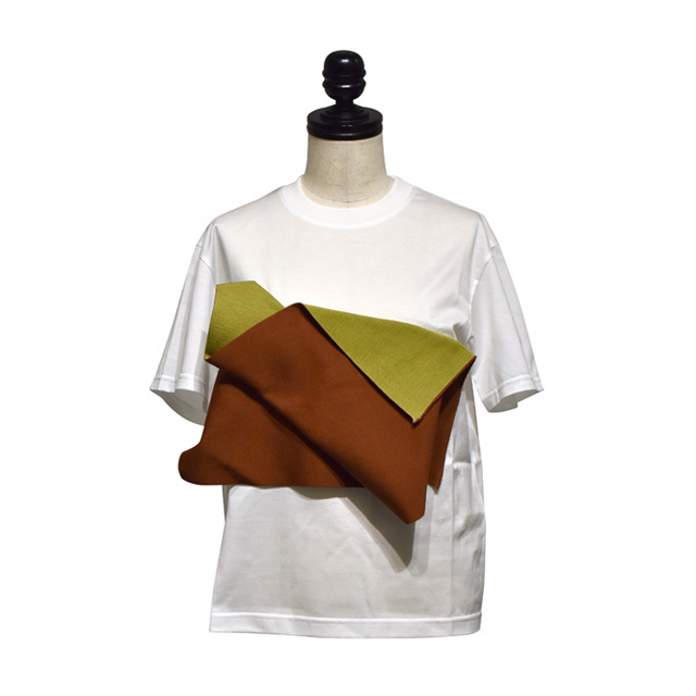 NAIFE™ / Paneled motif T-shirts / White