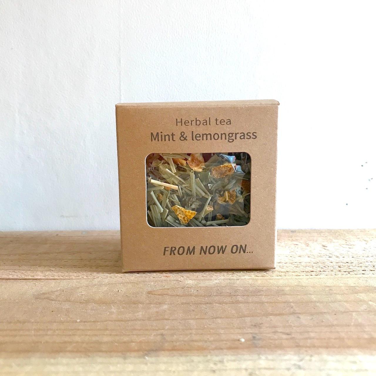 """"""" FNO Mint & Lemongrass herbal tea / ミント&レモングラス ハーブティー カートンS 10g """""""
