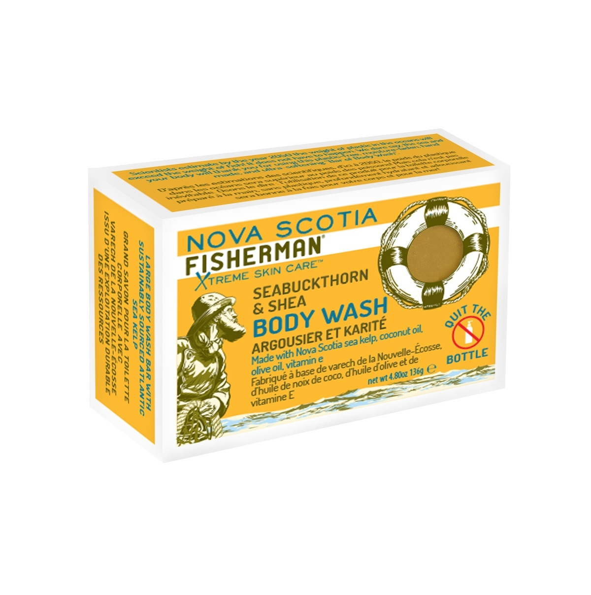 NOVA SCOTIA FISHERMAN(ノバスコシアフィッシャーマン) BODY WASH BAR シーバックソーン& シアバターソープ