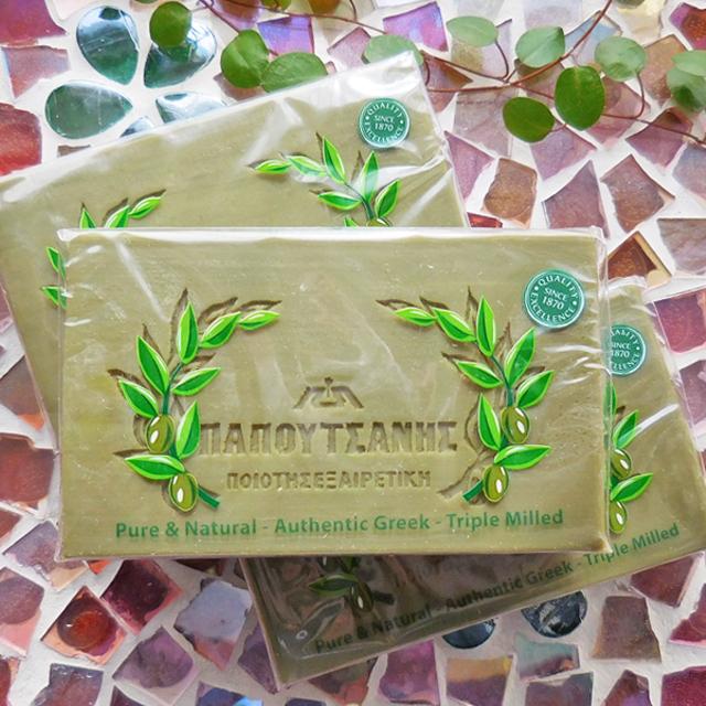 (247) パポタニス ギリシャ石鹸 オリーブ 125g ギリシャの天然オリーブ石鹸 無添加