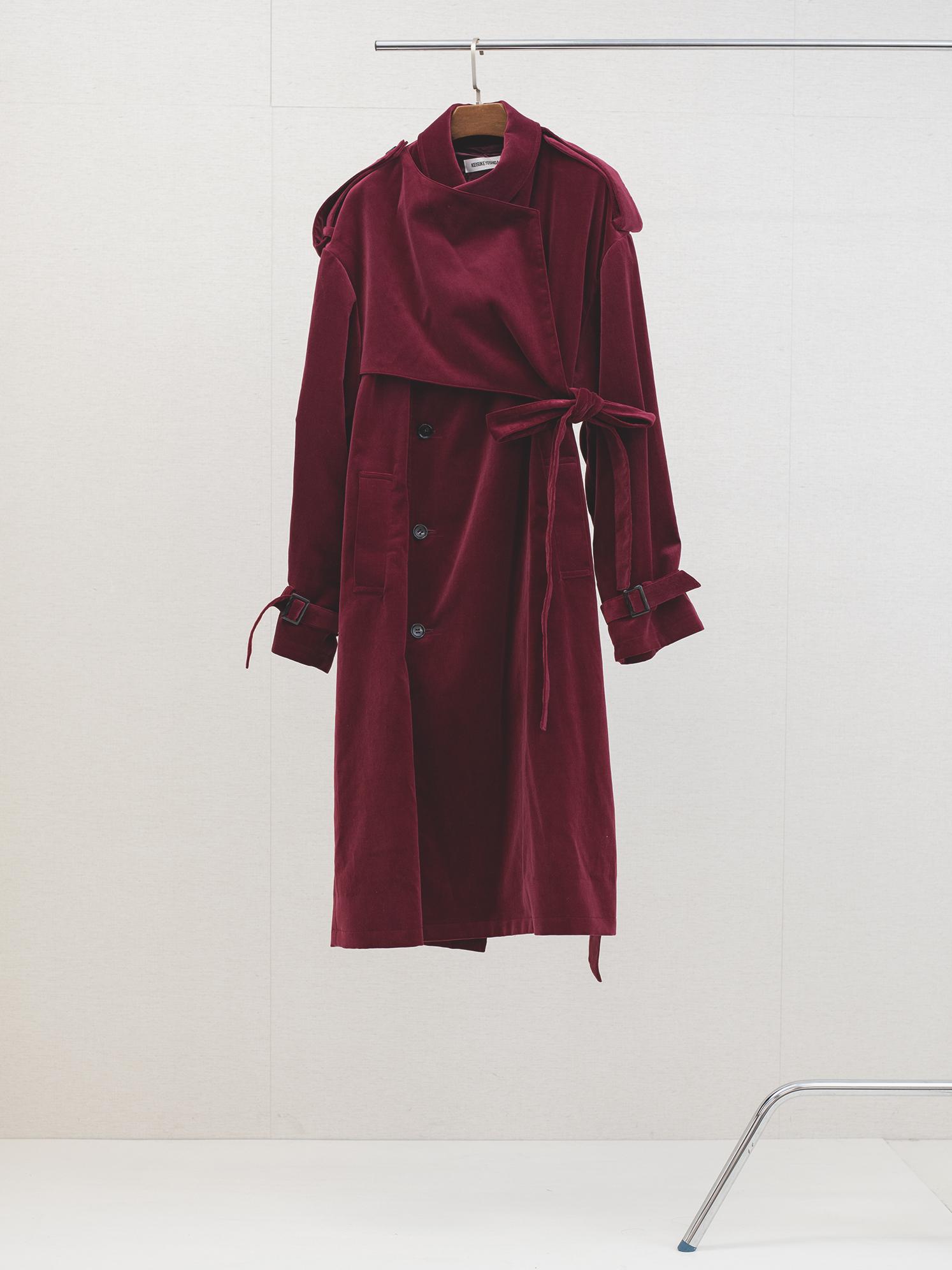 Belted Trench Coat Velve-teen