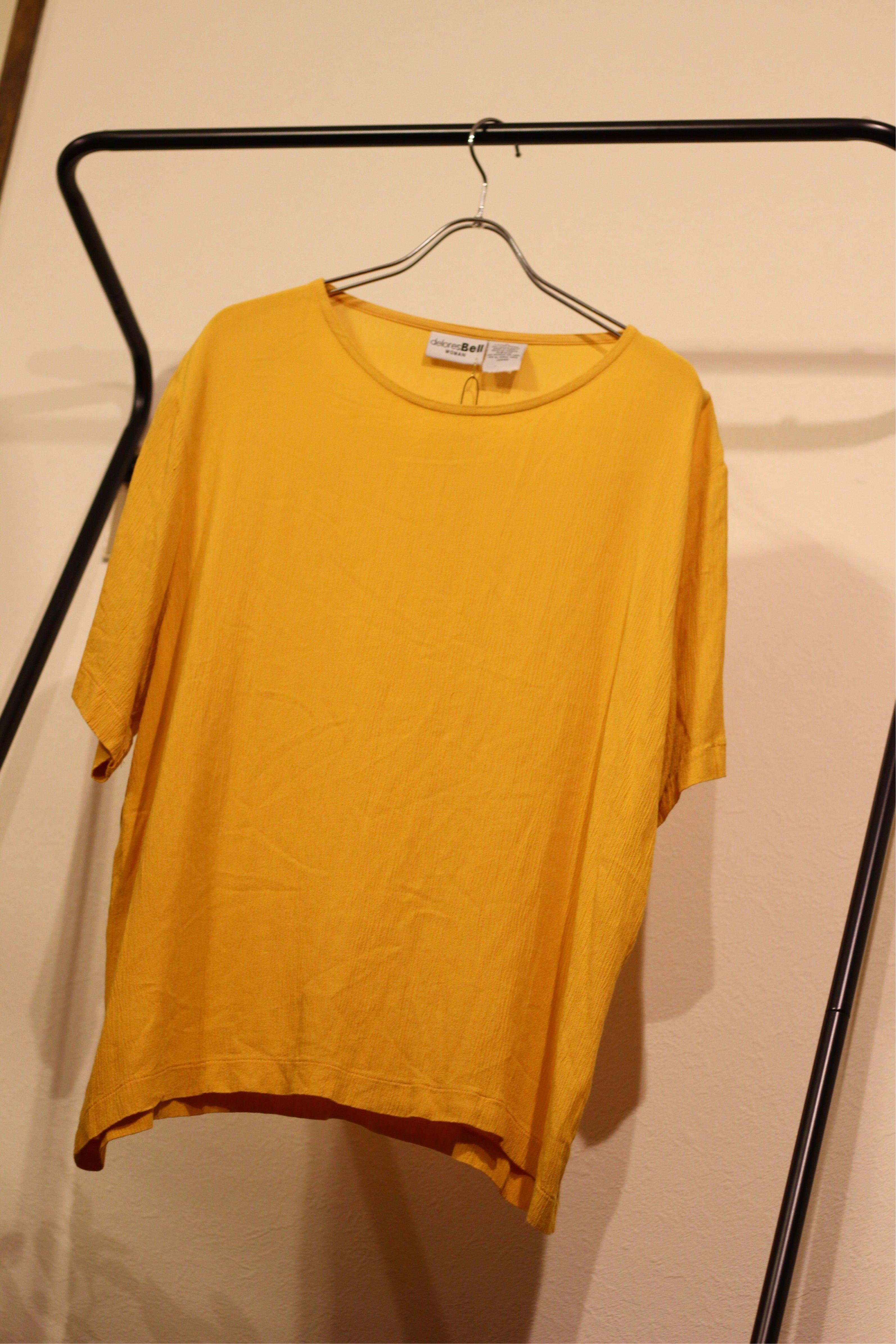 yellow cut sew