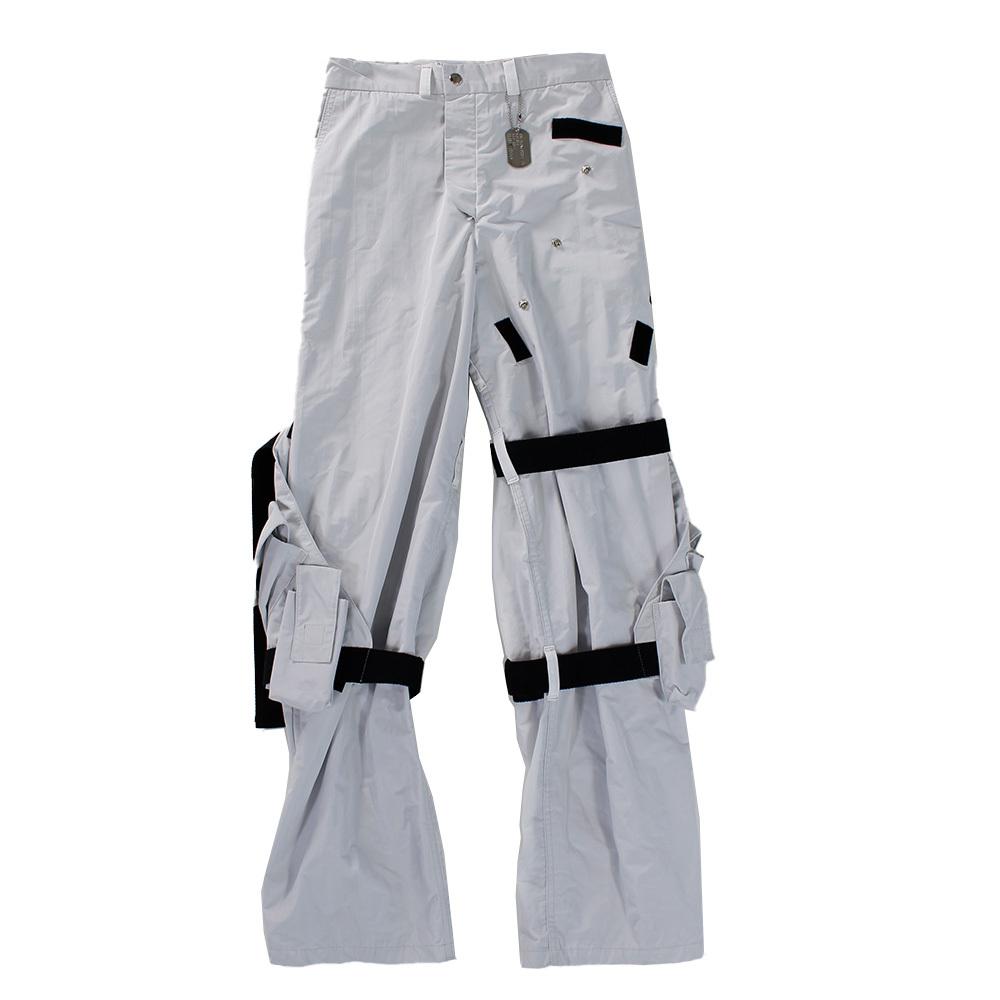 BRYAN JIMENEZ Grey Multi Belt Trousers