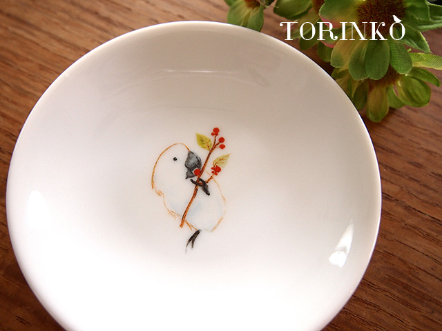タイハクオウム(白色オウム) お皿 小サイズ(オウム・鳥・インコ)