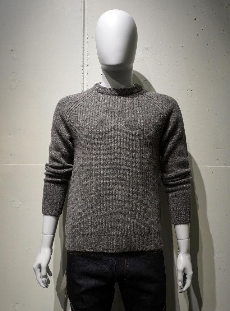 FUJITO Rib Knit Sweater グレイ