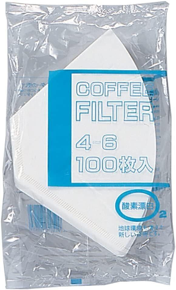 bonmac ボンマック コーヒー フィルター 4~6杯用 酵素漂白フィルター NB-400S 100枚入り #816127