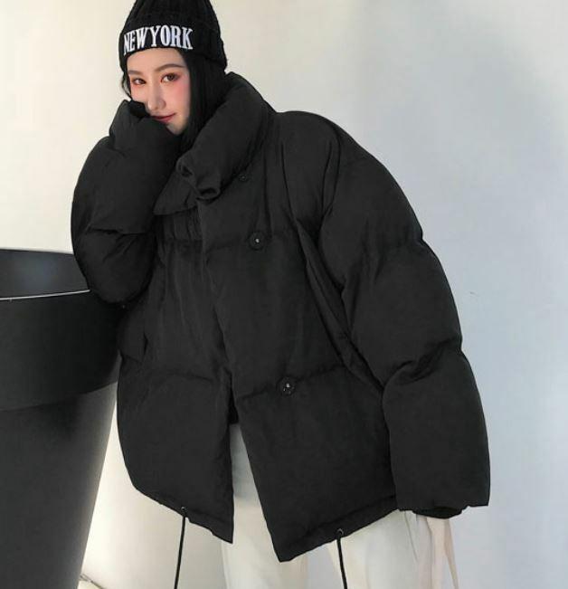 【送料無料】 カジュアル定番アウター♡ オーバーサイズ ビッグシルエット ハイネック ダウンジャケット コート
