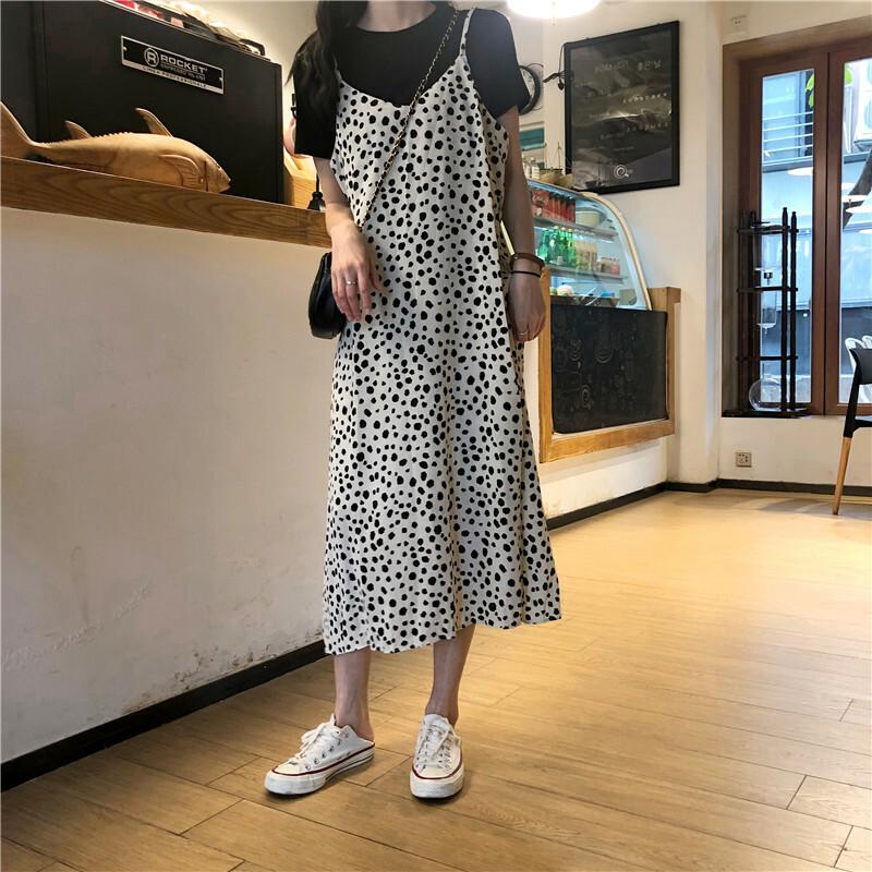 【送料無料】双子コーデに♡ 2点セット Tシャツ レオパード キャミ ワンピース