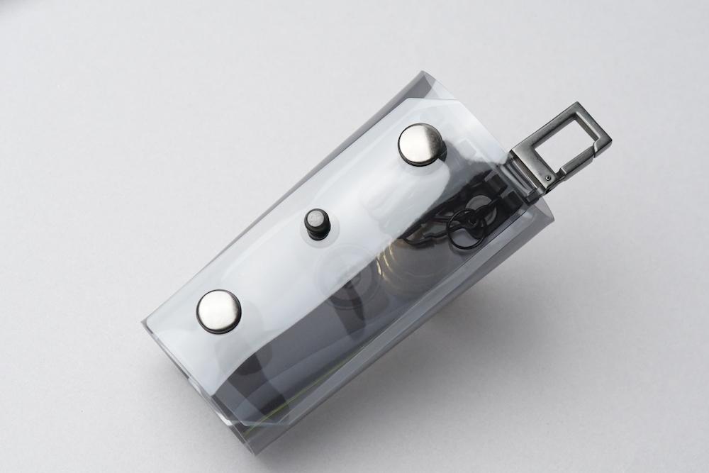 Triple Fold  Key Case  □スモークグレー・ブラック□ - 画像1