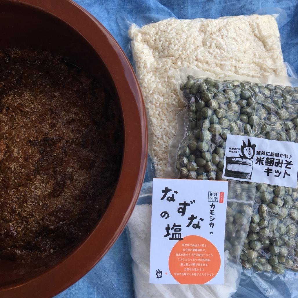 【限定】発酵食堂カモシカの手前味噌キット【青大豆倍麹編】