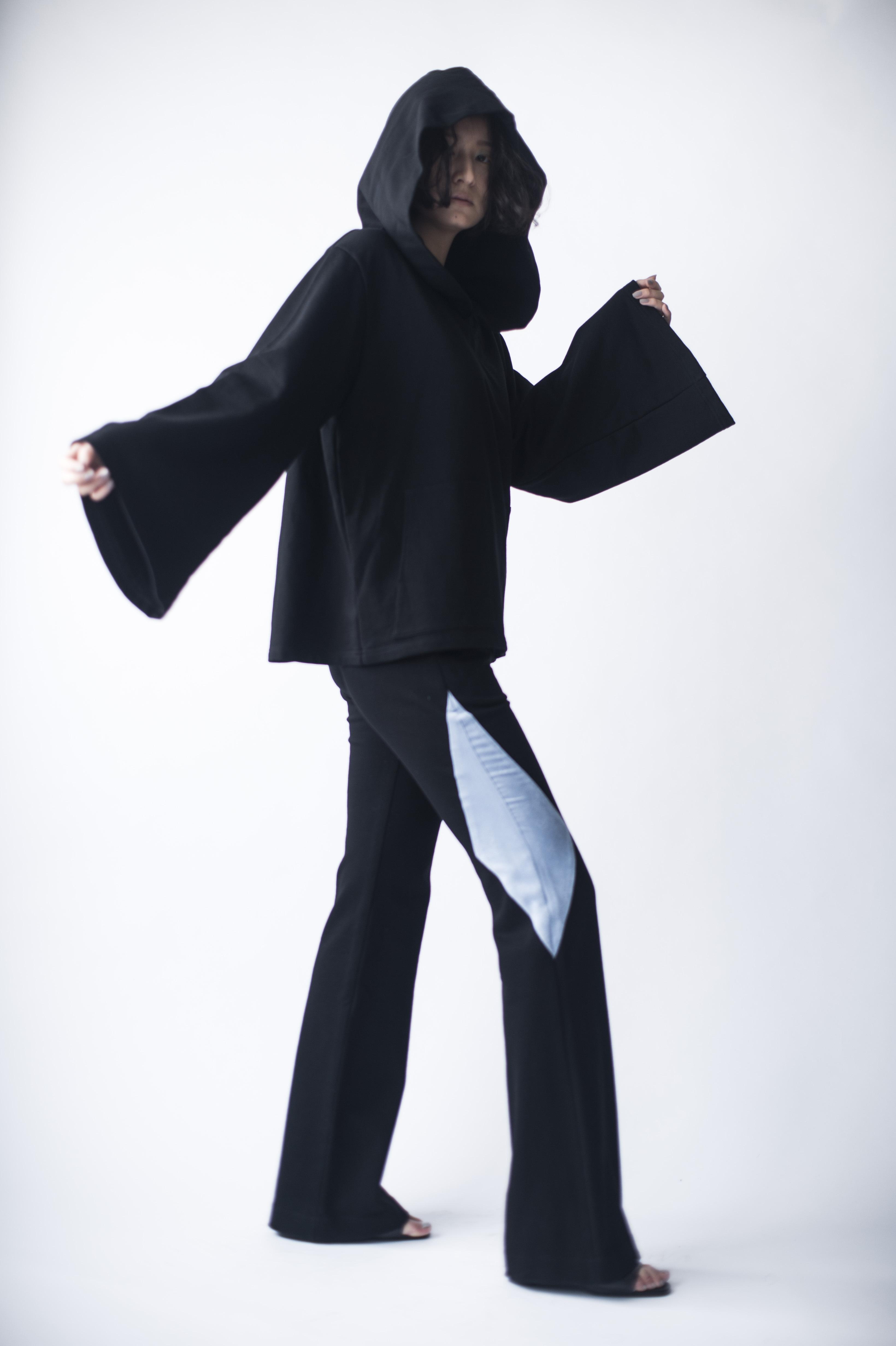 hs20SS-IR02 BI-COLOR DESIGN PANTS - Sサイズ