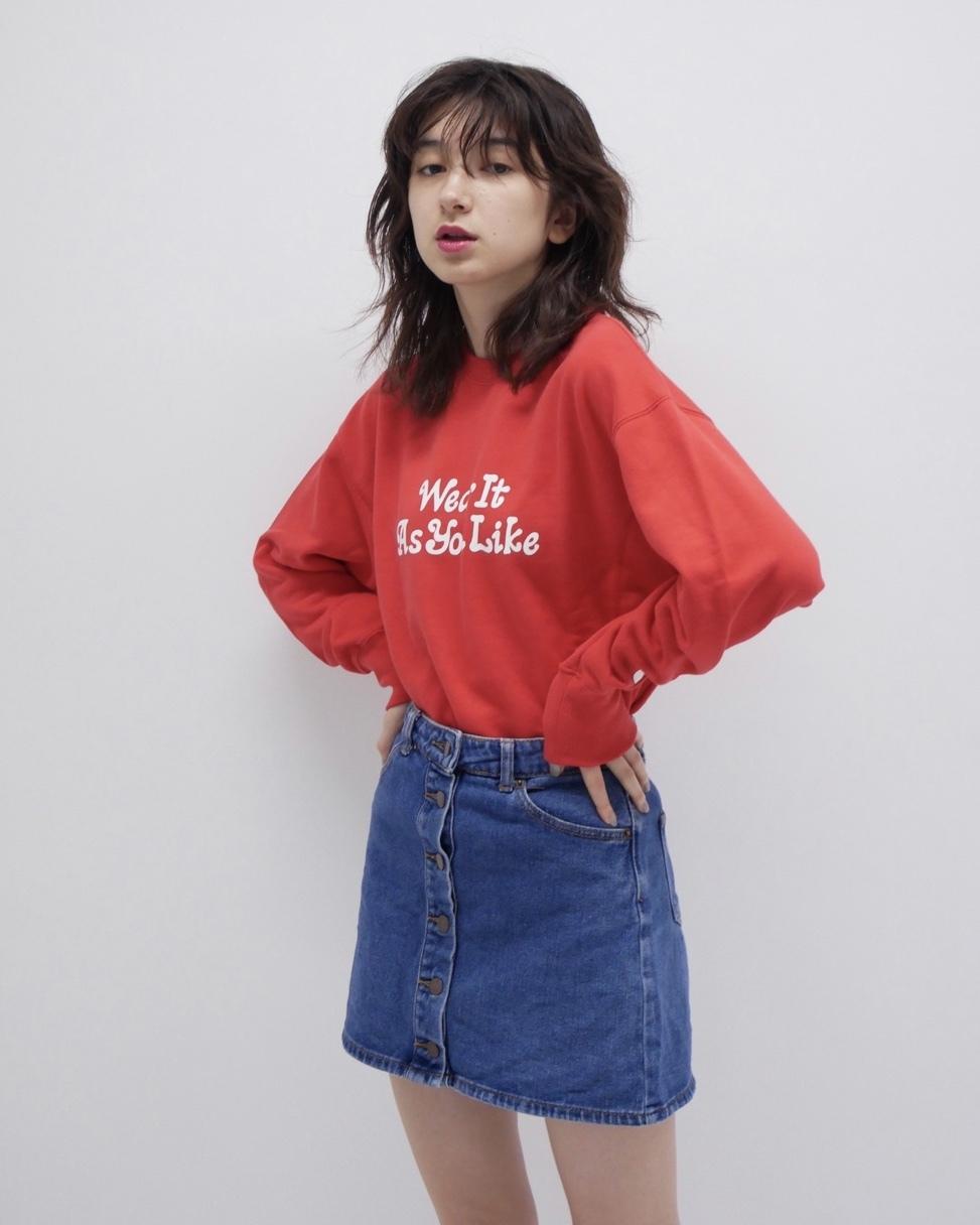 【KissMeLove】Red KissMeLove sweat