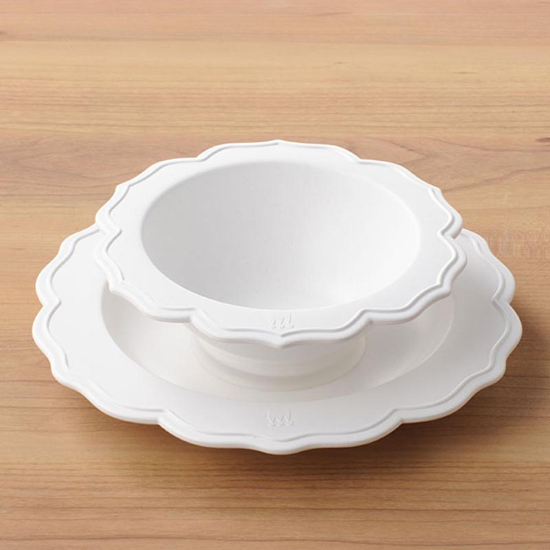Reale レアーレシリーズ・ボウル&ホワイト小皿 シェフセット/吸盤付き