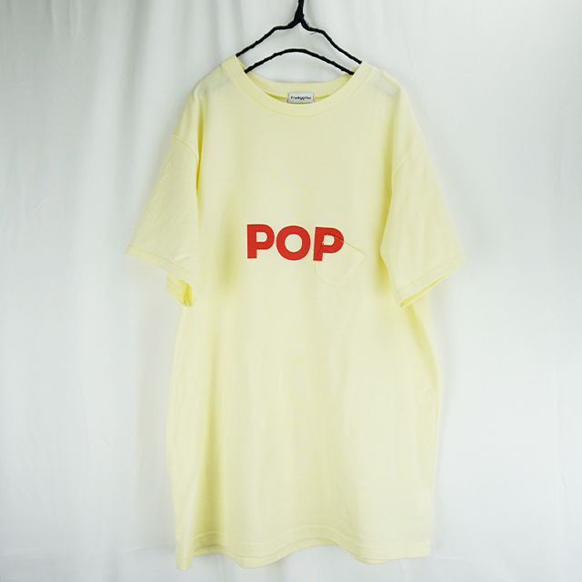 SLANT POCKET POP TEE / S - L