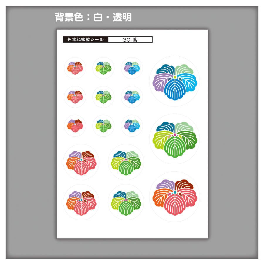 家紋ステッカー 蔦| 5枚セット《送料無料》 子供 初節句 カラフル&かわいい 家紋ステッカー
