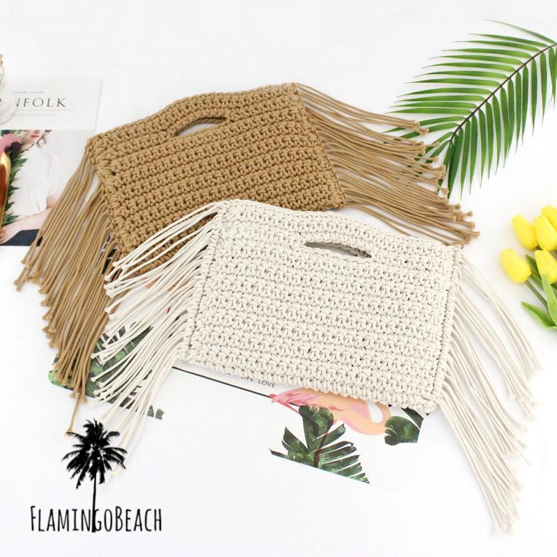 【FlamingoBeach】tassel handbag タッセルバッグ