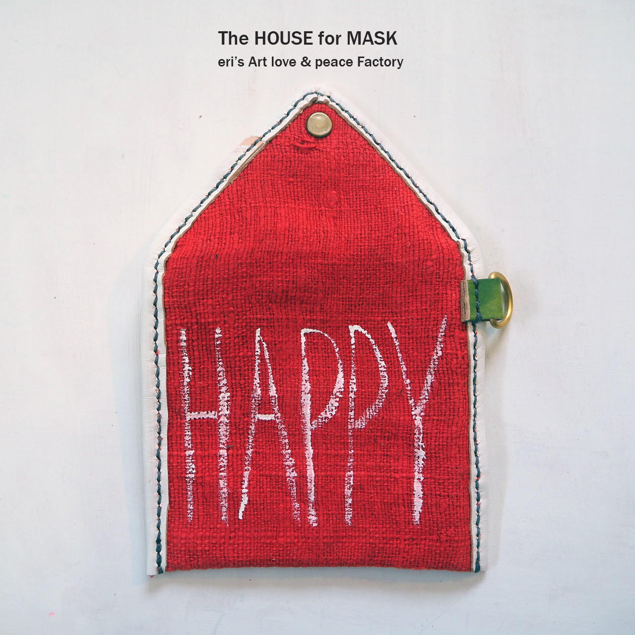 The HOUSE for MASK -マスクのおうちポーチ red- LE-1329