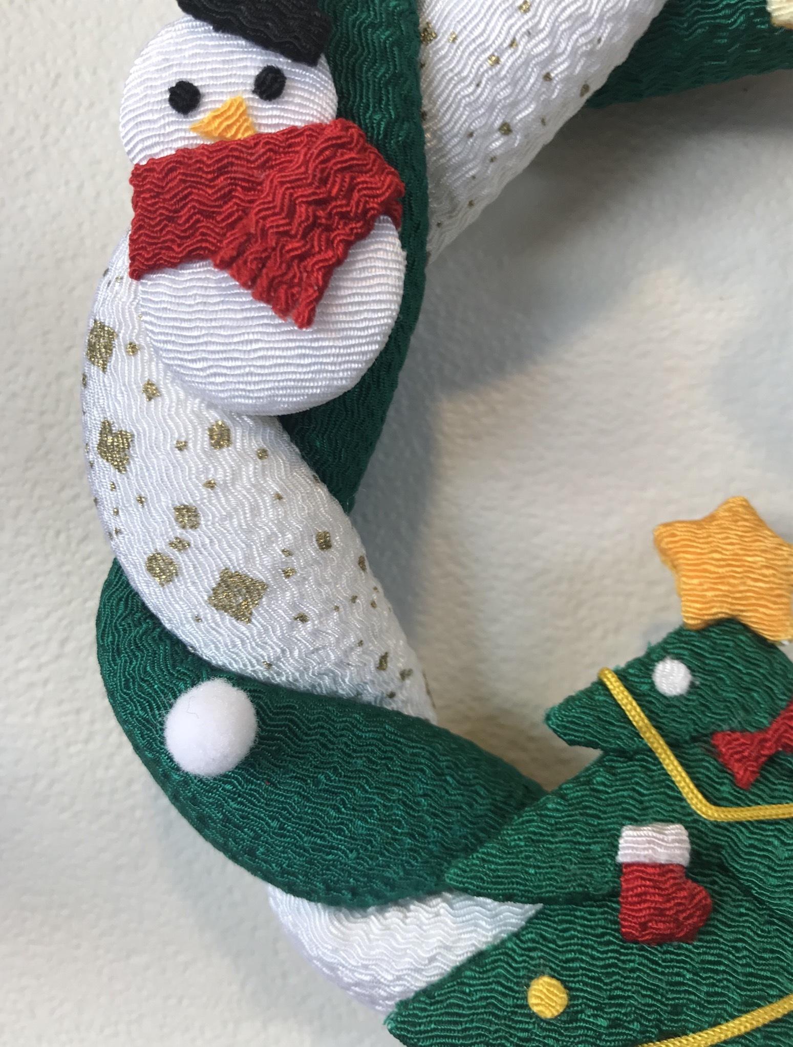 クリスマス☆ちりめんリース
