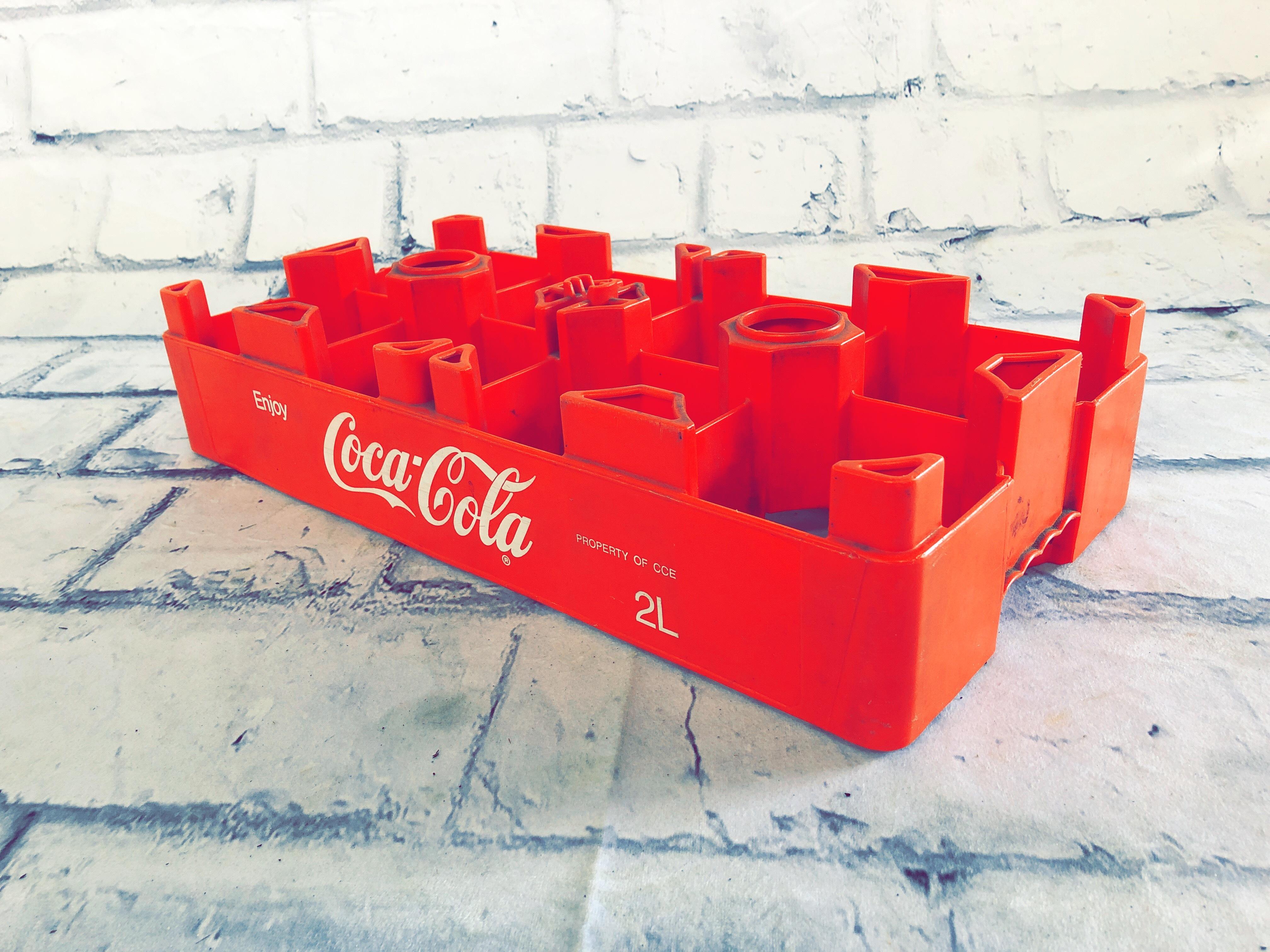 品番6381 ボトルクレート Coca Cola レッド プラスチックコンテナ