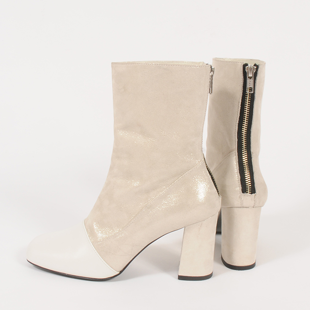 hs19AW-IRS02 P/W LEATHER SHOERT BOOTS -WH
