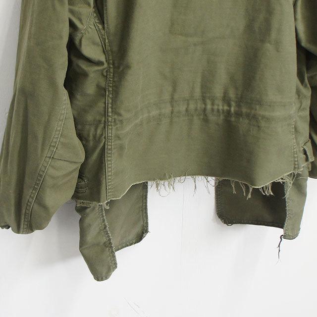 【再入荷なし】 sunny side up サニーサイドアップ リメイクM-65ショートジャケット(OLIVE) メンズ レディース ジャケット M-65 リメイク 通販 (品番sr-182-006)