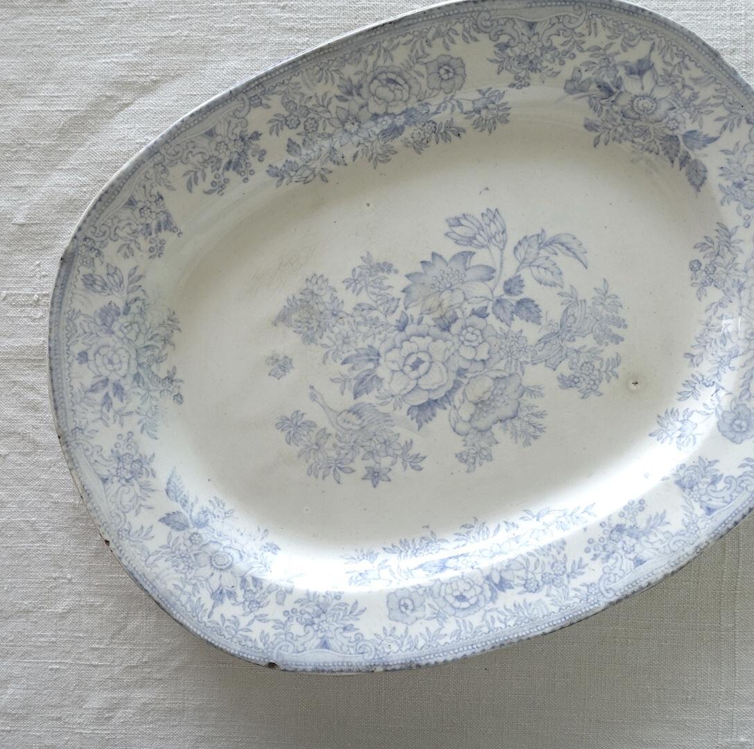 あっさりとしたフェザンツ柄のオーバル皿