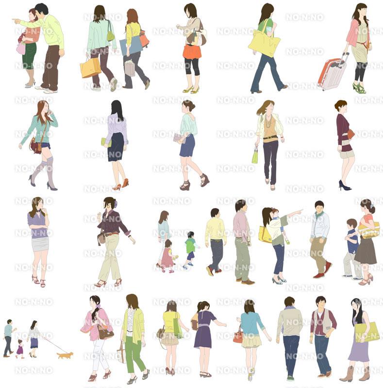 人物イラストSketchUp素材 4up_color01_20_2 - 画像4