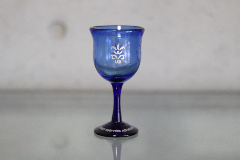 オリジナル琉球ガラス:ワイングラス エンブレム⑧