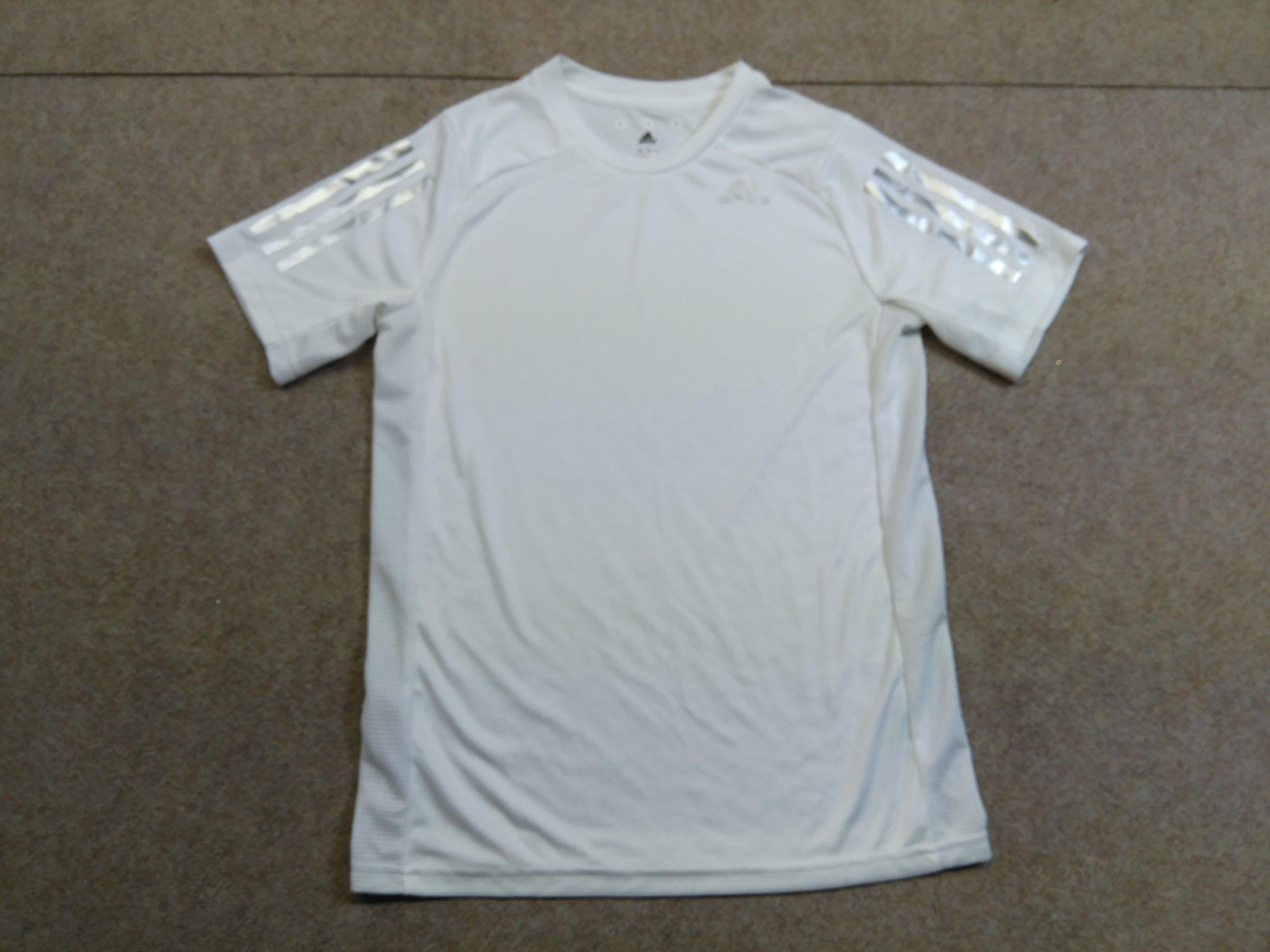 アディダス シルバー3本ライン Tシャツ 160cm 白 mu342s