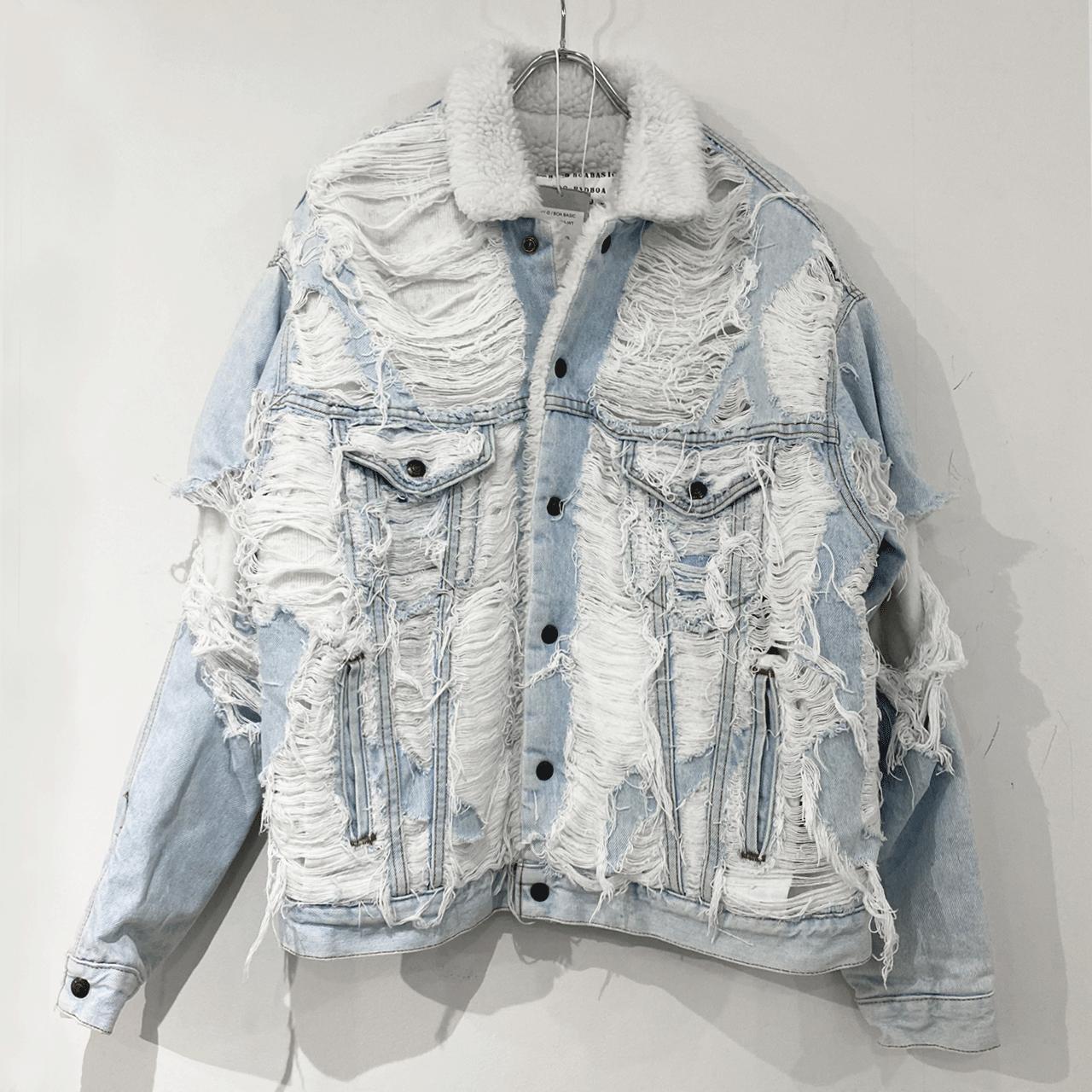 M THING HY-D BOA BASIC Denim jacket