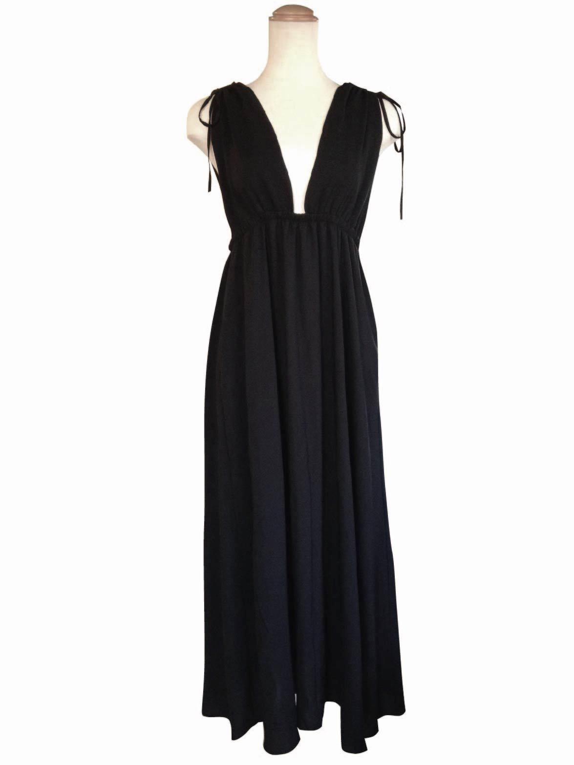 Maxi Night&Resort Dress Black マキシナイト&リゾートドレス ブラック