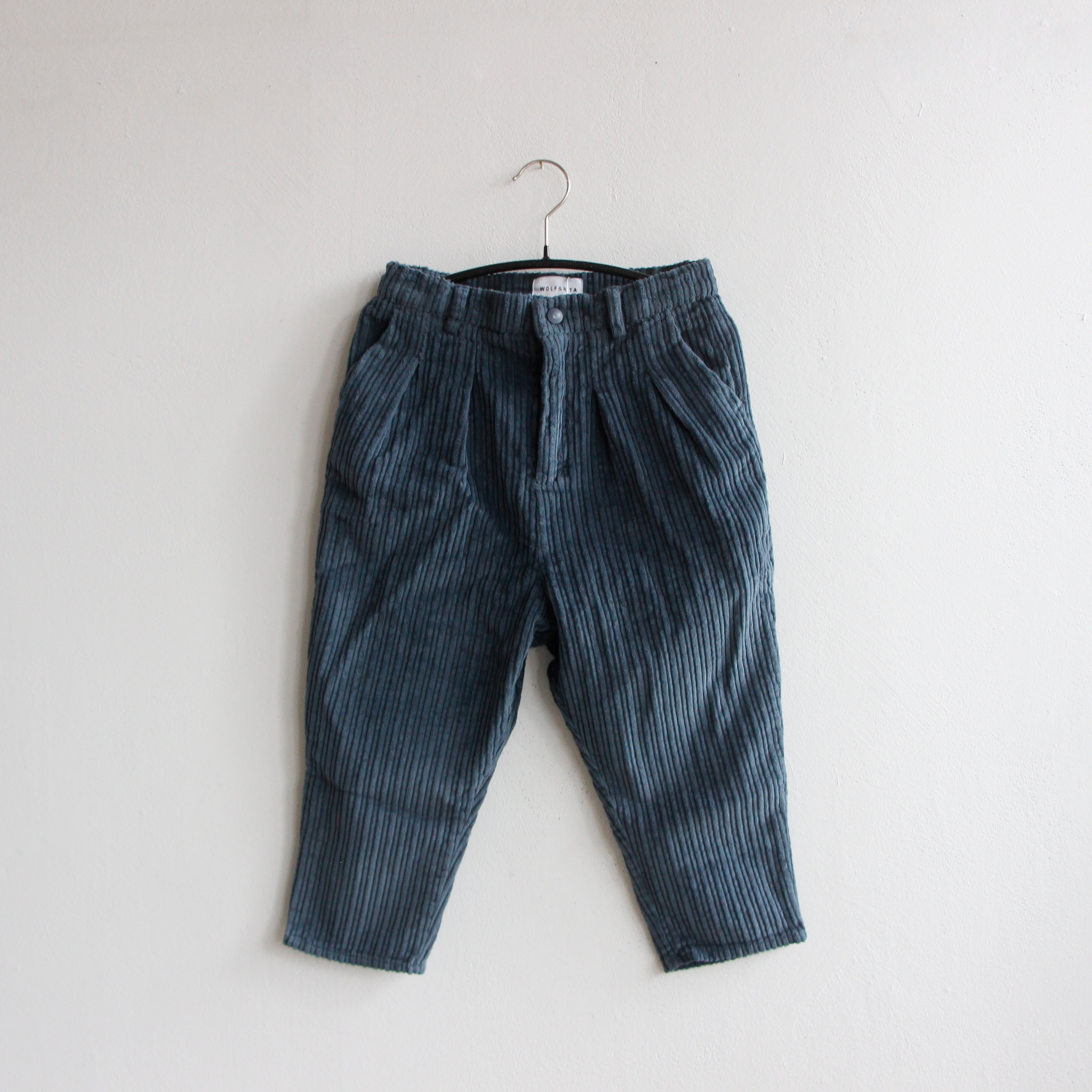 《WOLF & RITA 2020AW》ANDRE trousers / corduroy pale blue