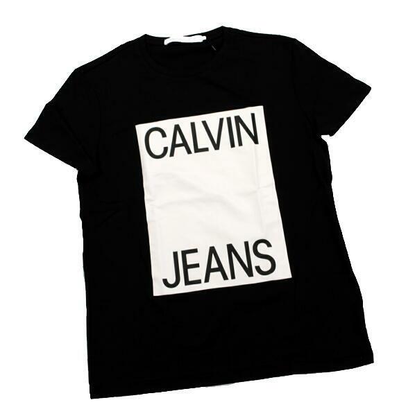 Calvin Klein Jeans カルバンクライン ジーンズ ボックスロゴ 半袖 Tシャツ ブラック J312167