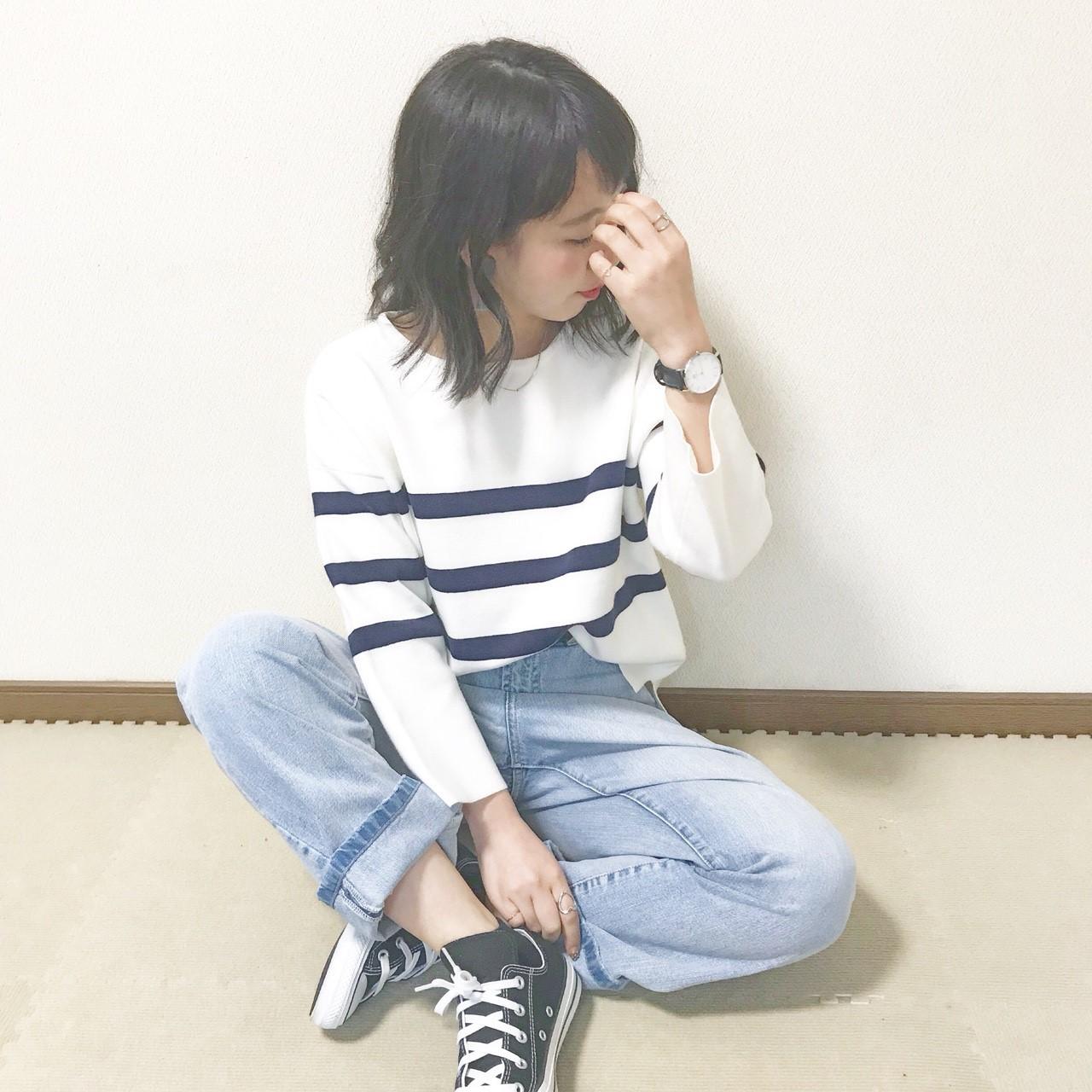 yuru border knit