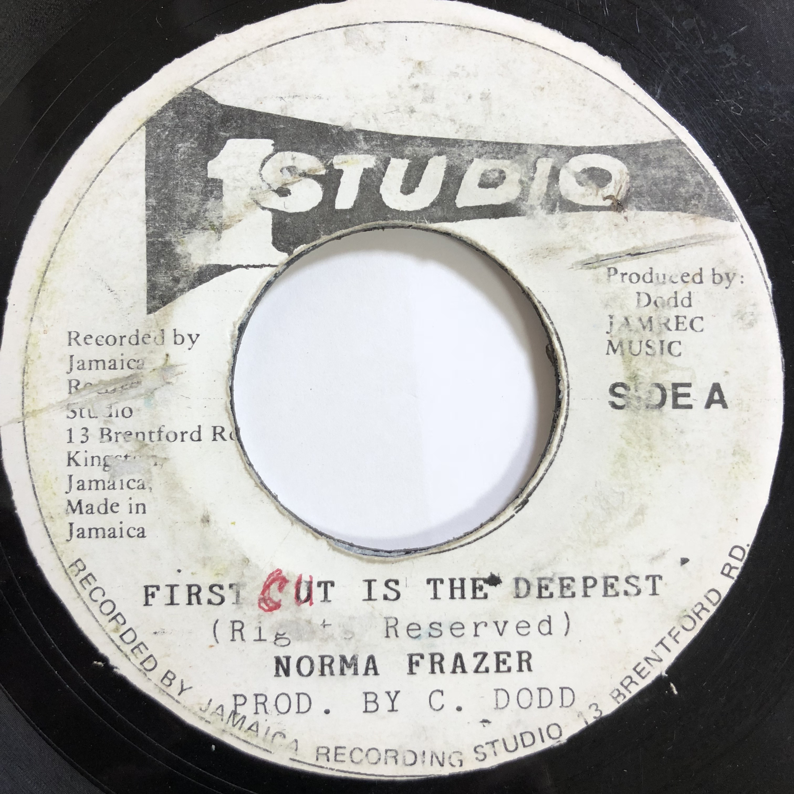 Norma Frazer(ノーマフレイザー) - First Cut Is The Deepest【 7'】