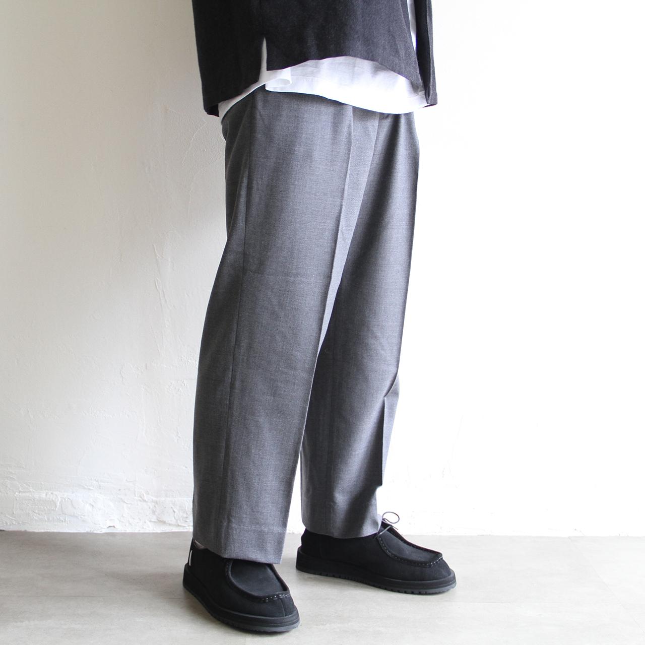 STILL BY HAND【 mens 】wool cupra wide pants
